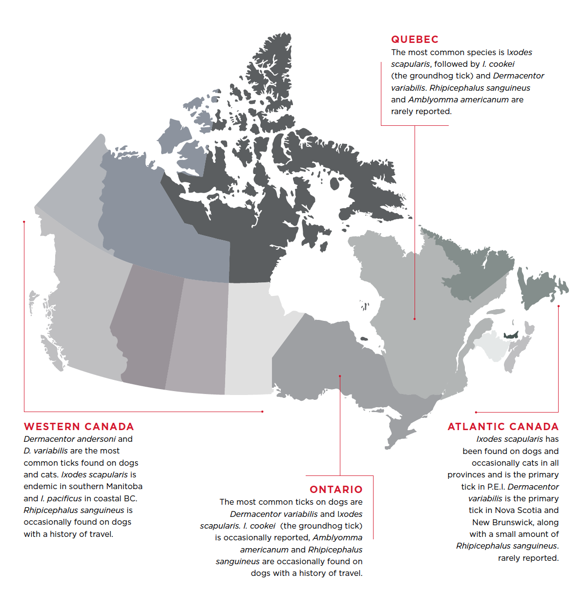 Tick Map Canada Ticks and Mites   Canadian Parasitology Expert Panel Guidelines